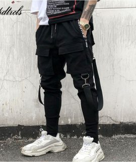 Pockets Pencil Pants Ripped Sweatpants